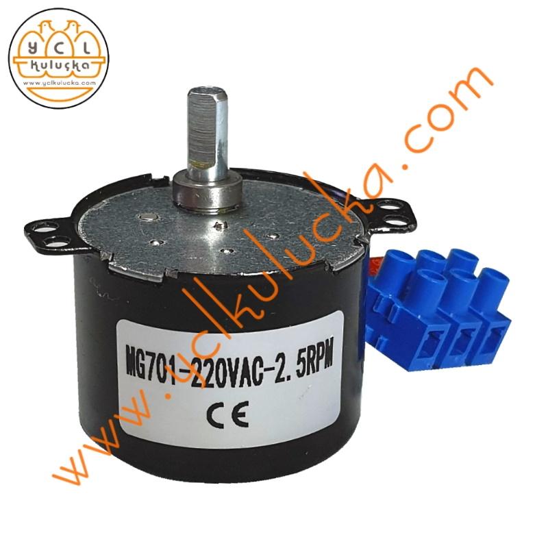 Kuluçka Makineleri için 40 Kg Çevirme Motoru