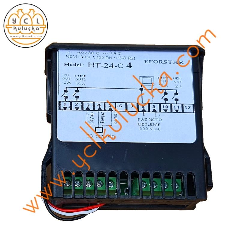 Eforstar HT-24-C4 Hygrotherm Isı, Nem ve Motor Kontrol Cihazı