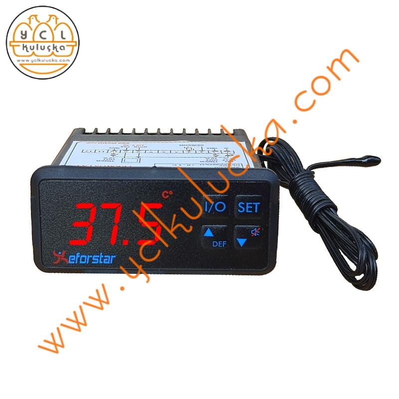 Eforstar PL-1300-T Isı Ölçme ve Çift Timer Motor Kontrol Cihazı (Termostat+Timer)