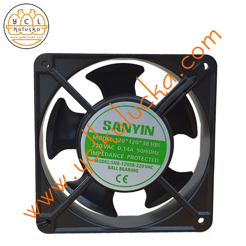 12x12 cm Axial AC Ball Bearing (Bilyalı) Fan