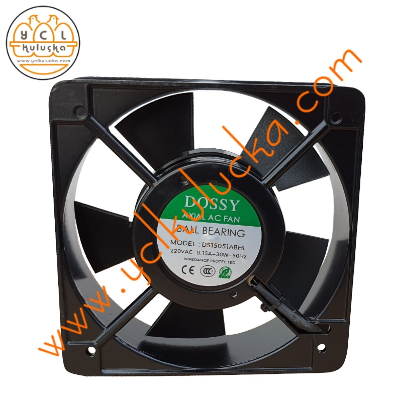 15x15 cm Axial AC Ball Bearing (Bilyalı) Fan