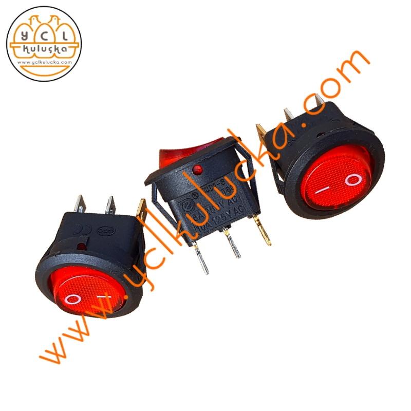 Üç Bacaklı Işıklı 250V 6A AC Düğme CE sertifikalı